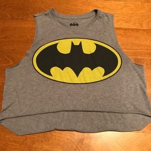 Forever 21 Grey Batman Cropped Tank